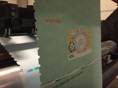 Joos Print - security printing met watermerk in veiligheidspapier